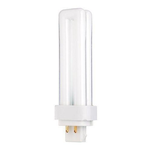 Sylvania 20672 18W Compact Fluorescent 4 Pin Double Tube 3500K, 4-PACK