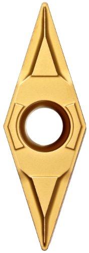 "Sandvik Coromant CoroTurn 107 Carbide Turning Insert, VBMT, 35 Degree Diamond, KF Chipbreaker, GC3005 Grade, Multi-Layer Coating, VBMT 221-KF, 1/4"" iC, 0.0157"" Corner Radius (Pack of 10)"