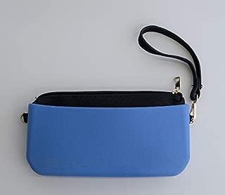 Hedzup 2018216 Blue Moulded Shoulder Clutch, Blue, Small Clutch