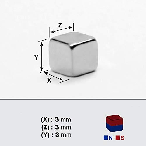 Cubo magnético de neodimio 3x3x3mm x3mm x100 piezas