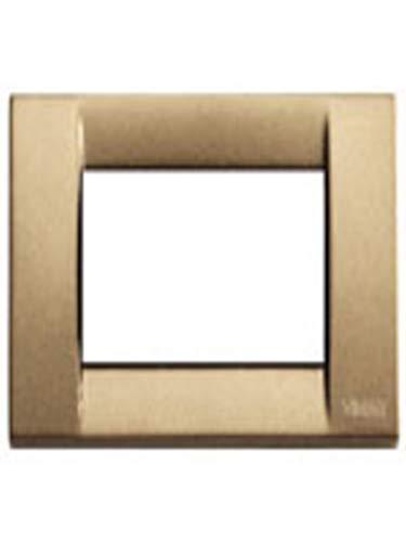 Vimar Serie Idea–Placca Classica 3Moduli Metallo Bronzo Metallizzato