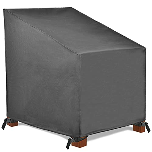 Patio Watcher High Back Patio Chair Covers, Durable and Waterproof Outdoor Furniture Chair Cover,Grey