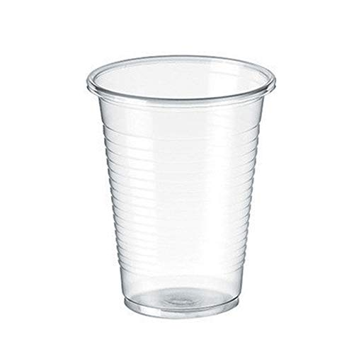 TELEVASO - 3000 uds - Vasos de color transparente, de polipropileno (PP) - Capacidad de 200 ml - Reciclables - Ideal para bebidas frías como agua, refresco, zumos, té helado