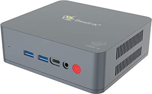 Beelink U55 - Mini PC con Windows 10 Pro, Intel Core i3-5005U, 2 x HDMI Ultra HD 2K, RAM 8 GB DDR3L, SSD M.2 128 GB, ranura SATA3 2.5' para disco duro/SSD adicional, Wi-Fi 5 AC, Gigabit Ethernet