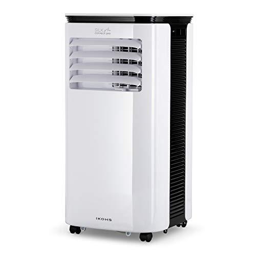IKOHS SILKAIR Connect Pro - Aire Acondicionado Portátil, 9000BTU, 2270 Frigorías con 4 Modos de Aire Acondicionado, Calefactor, Ventilador, y Deshumidificador hasta 24 L/día, Silencioso, WiFi