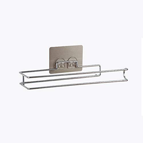 Ghelf Creative Simplicity - Estante de papel higiénico de acero inoxidable para baño con estructura de alambre de acero doble para pared