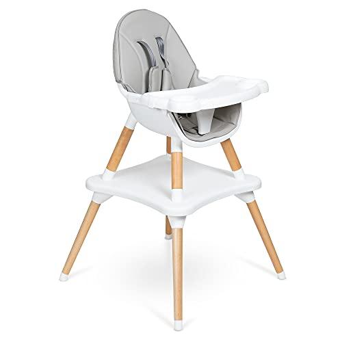 🦊 Zarina es la silla alta para bebe con tres opciones de uso, periquera para bebe, silla para bebé y mesa para niños con silla. Segura y fácil de reconfigurar sin...