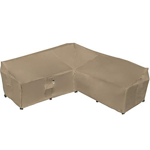 Strapazierfähiger Sofabezug für den Außenbereich, 100 % wasserdicht, 600D, V-förmiger Bezug für Terrassenmöbel