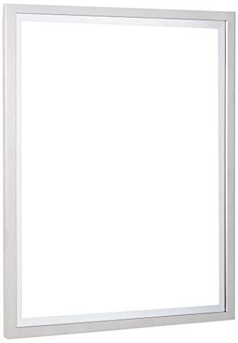Head West 24 x 30 Classic Brush Nickel 1 in. Wide Metal Frame Wall Mirror