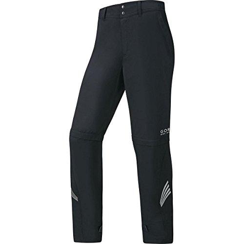 GORE BIKE WEAR, Pantaloni Ciclismo Uomo, Antivento, Gambe staccabili, GORE WINDSTOPPER Active Shell, Taglia M, Nero, PWZELE990004