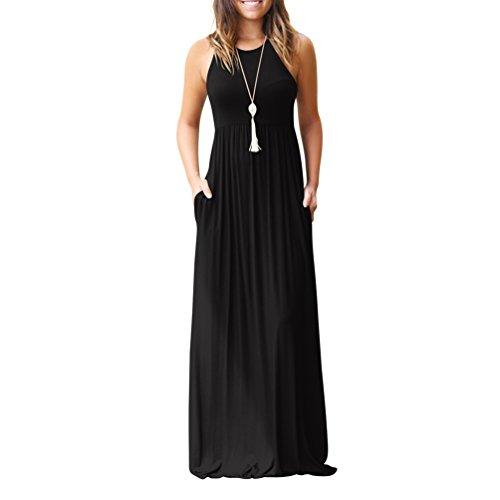 Rojeam Mujer Vestidos Fiesta Largos Elegantes Tallas Grandes Vestidos Casual Playa Falda