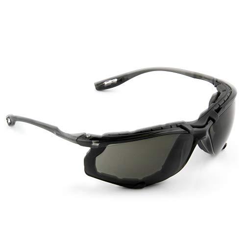 3M Safety Glasses Virtua CCS ANSI Z87 AntiFog Gray Lens Black Frame Corded Ear Plug Control System Removable Foam Gasket