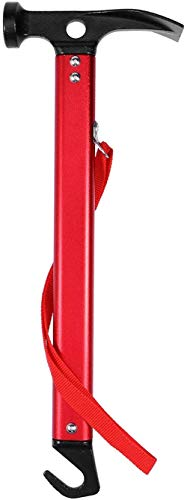 ProLeo Marteau de camping multi-fonction pour piquets (rouge)