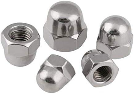 Moeren nagels schroeven 5pcs Metric M12 304 roestvrij staal Hex Head domekap Protection Cover Nuts