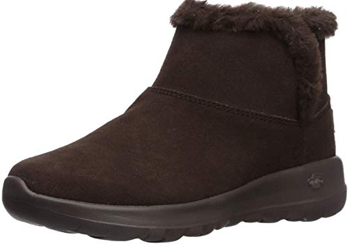Skechers On-The-go Joy - Bundle Up, Botines para Mujer, Marrón (Chocolate Suede Chocolate), 38 EU
