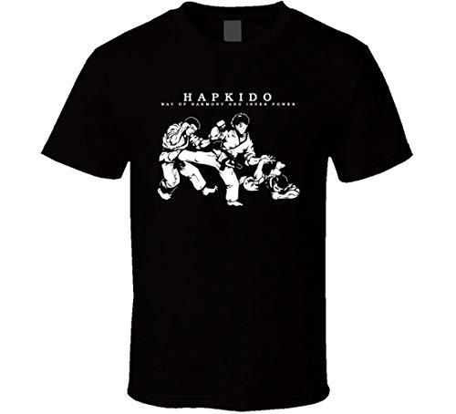 Hapkido MMA Way of Inner Power Fight - Camiseta de entrenamiento de artes marciales Negro Negro ( L
