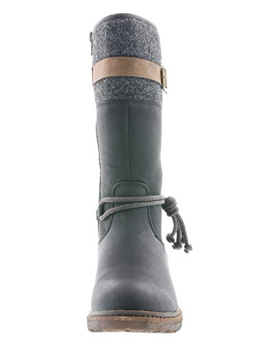 Rieker Tex Damen Stiefel 94778, Schwarz - 5