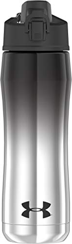 Under Armour Beyond 18 Ounce Stainless Steel Water Bottle, Black Chrome