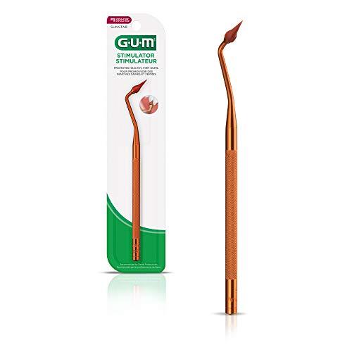 GUM Stimulator Permanent Handle with Rubber Tip, Precision Control, Massages Gums