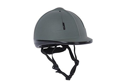 Dublin Opal Helmet Adults, SEI Certified Horseback Riding Head Gear, for Equestrian Schooling, Black Large