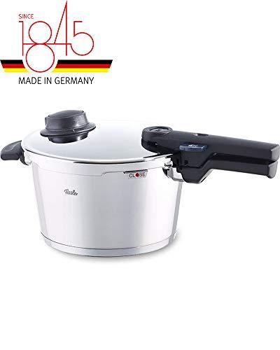 Fissler vitavit comfort / Induktions-Schnellkochtopf (4,5 L, Ø 22 cm) Edelstahl-Dampfkochtopf, 2 Garstufen, stapelbar, alle Herdarten auch Induktion