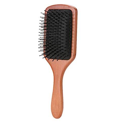 YUFSHU 1 stuk houten kam voor haar draagbare haarborstel peddel haarborstel gezondheidszorg, schaal hoofdmassage kam accessoires kappersweegschalen