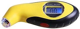 جهاز قياس رقمي بشاشة ال سي دي لقياس تحمل ضغط الهواء بالإطارات، أداة دقيقة لقياس الضغط بالإطارات في السيارة والدراجة والشاح...