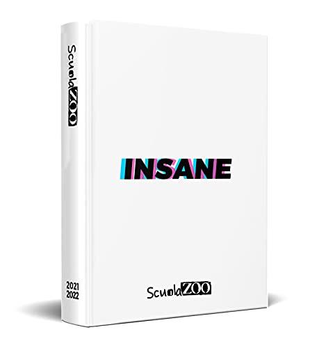 ScuolaZoo Agenda Diario scolastico 2021-2022 con meme e adesivi, disponibile con 6 copertine e 2 dimensioni (Insane, 11x15 cm)