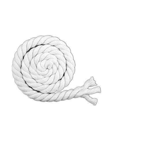 para cesta de almacenamiento, decoración de guardería, cesta de regalo o accesorios decorativos hechos a mano, 10 metros, blanco 20mm