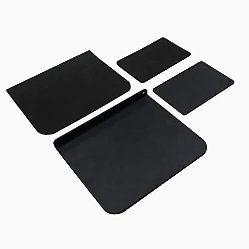 モニターアーム補強プレート クランプ式用補強プレート 取付部硬さ強化対策 デスク保護 下プレート拡大 両側滑り止めシート付き(1セット!) Clamp-Aibo