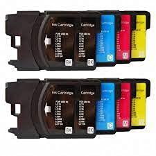 10 Compatibles LC1100 LC980 Cartuchos de tinta para Brother DCP-145C 165C 195C 197C 385C 585CW 6690CW MFC-250C 290C 490CW 5890CN 5895CW 6490CW 990CW J615W - Negro/Cian/Magenta/Amarillo, Alta Capacidad