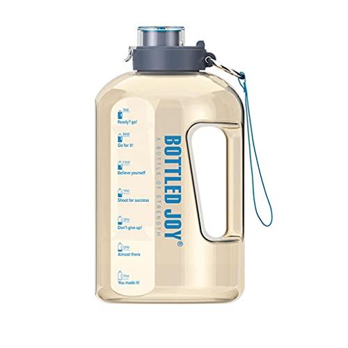 Botella de Agua Grande de Boca Ancha con Marcador de Tiempo Motivacional...