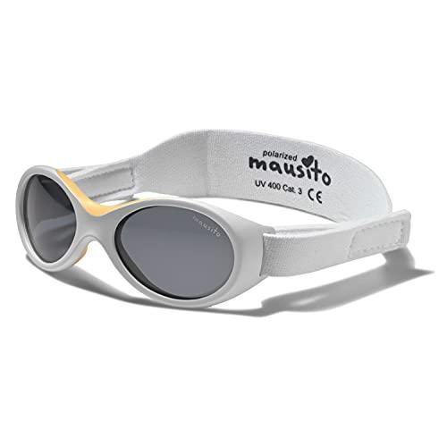 Mausito® BABY Sonnenbrille 0-1,5 Jahre Mädchen I BIOPLASTIK & POLARISIERT Sonnenbrille für Kleinkinder I 100% UV SCHUTZ I verstellbares Band I WEICHER NASENBÜGEL I Cool Baby sunglasses