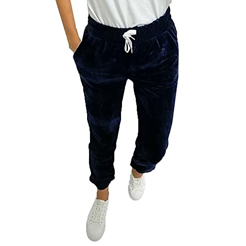 WJANYHN Modelo De Tobillo con Lazo EláStico De Moda para Mujer con Pantalones Casuales De Terciopelo