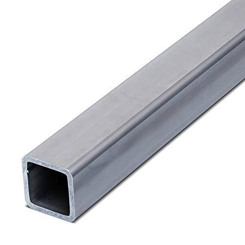 thyssenkrupp Vierkantrohr Edelstahl 120 x 60 x 3 mm in 500 mm Länge | Rechteckrohr Hohlprofil V2A geschweisst | Werkstoff: 1.4301 | AISI 304