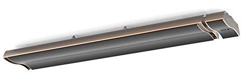 MPCSHOP 2400-DESIGN Riscaldatore ad Infrarossi ad onda lunga con telecomando, potenza 2400W e design compatto
