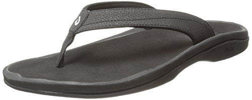 OLUKAI Women's Ohana Sandal, Black/Black, 8 M US
