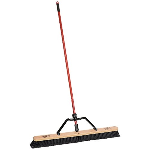 "Libman Commercial 850 36"" Smooth Sweep Push Broom - Brace Handle - Lot of 3"