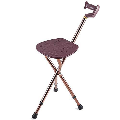 Vouwen wandelstok stoel, inklapbare hoogte verstelbare aluminium legering ouderling hand wandelen Stick voor mannen en vrouwen Pack klein voor reizen en winkel