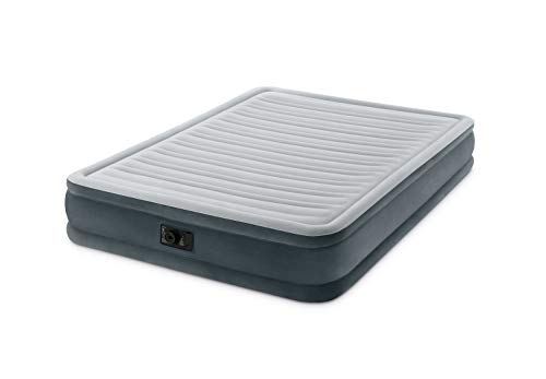 Intex Queen M R 2p Matelas Gonflable Mixte, Gris, 152 x 203 cm