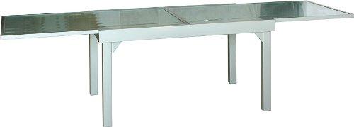 IB-Style® - Diplomat Gartentisch-XXL Premium Ausziehtisch silbermatt 135-270 cm Gartentisch