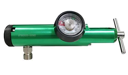Regulador de Oxigeno 0-15LPM YUGO CGA870 Salida DISS Roscada Para Vaso Humidificador (Vaso No Incluido)