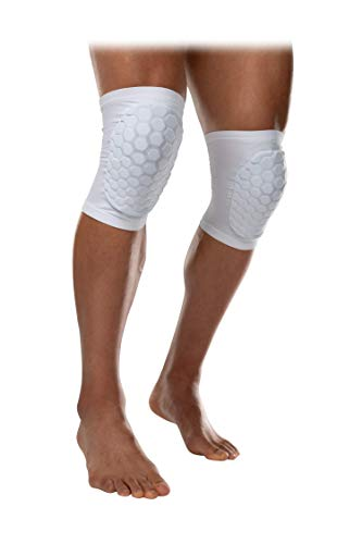 McDavid 6440 Hex Knee Pads/Elbow Pads/Shin Pads for Volleyball, Basketball, Football & All Contact Sports, Youth & Adult Sizes, Sold as Pair (2 Sleeves)