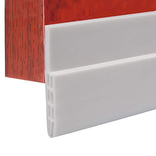 Schallschutz Vermeidung Gummi Dichtungsstreifen, 100 cm Silikonkautschuk Türleiste Selbstklebende Hintertür Dichtung für Fenster Türspalt um Bad
