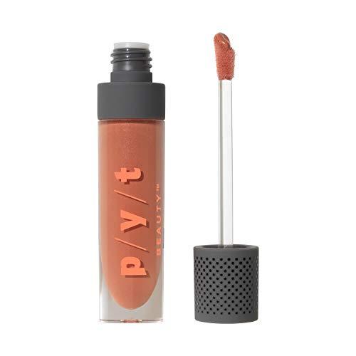 PYT Beauty Rosy Nude Plumping Lip Gloss, High Shine, Moisturizing, Hypoallergenic, Cruelty Free, Vegan, 1 Count