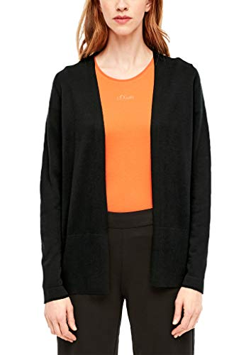 s.Oliver Damen Strickjacke in Unicolor Black 44