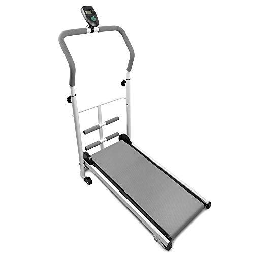 Flyelf Mini Manuale Tapis Roulant, con Display a LED Running, Sit-Up Fitness Famiglia 110 * 88 * 43,5 cm (Grigio)