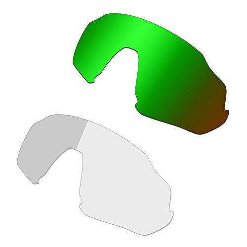 HKUCO Reforzarse Verde/Fotocrómico Polarizado Lentes de repuesto para Oakley Flight Jacket Gafas de sol