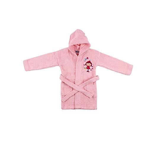 INTERBABY - Albornoz Infantil 100% Algodón T. 6-8 años, color rosa
