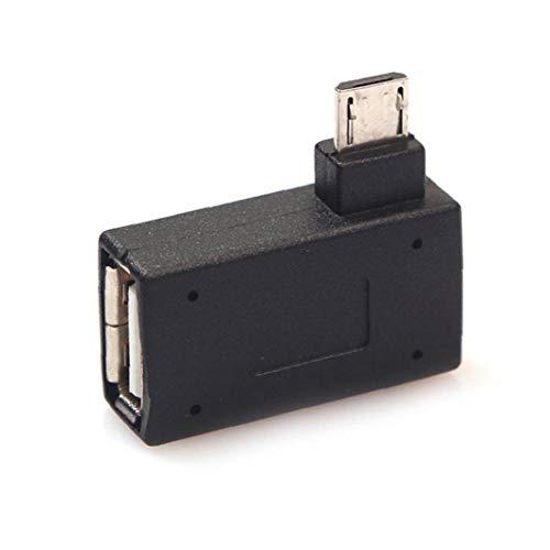 Micro Usb Macho a Hembra Usb2.0 Ángulo Izquierdo Del Anfitrión Otg Converter 90 Suministros Grado Otg Adaptadores De Equipos Electrónicos